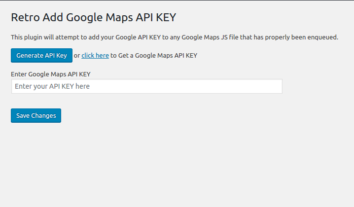 API KEY for Google Maps Download Free Wordpress Plugin 1