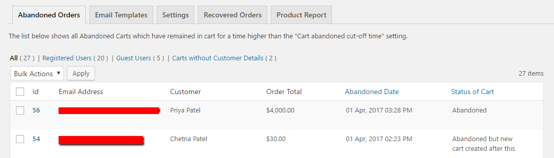 Abandoned Cart Lite for WooCommerce Download Free Wordpress Plugin 2