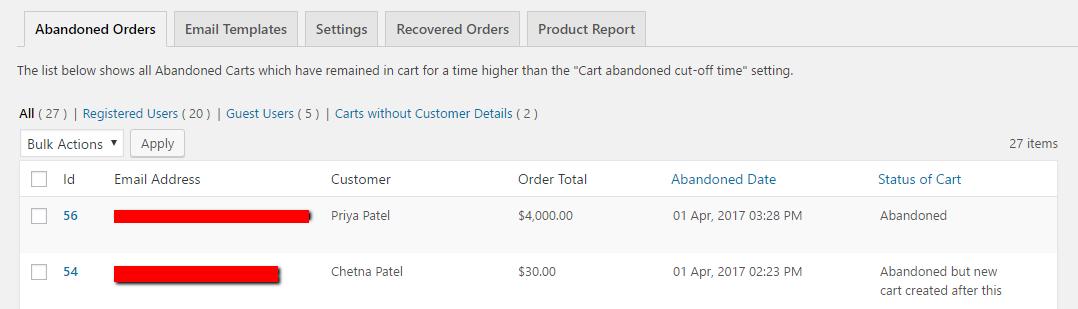 Abandoned Cart Lite for WooCommerce Download Free Wordpress Plugin 5