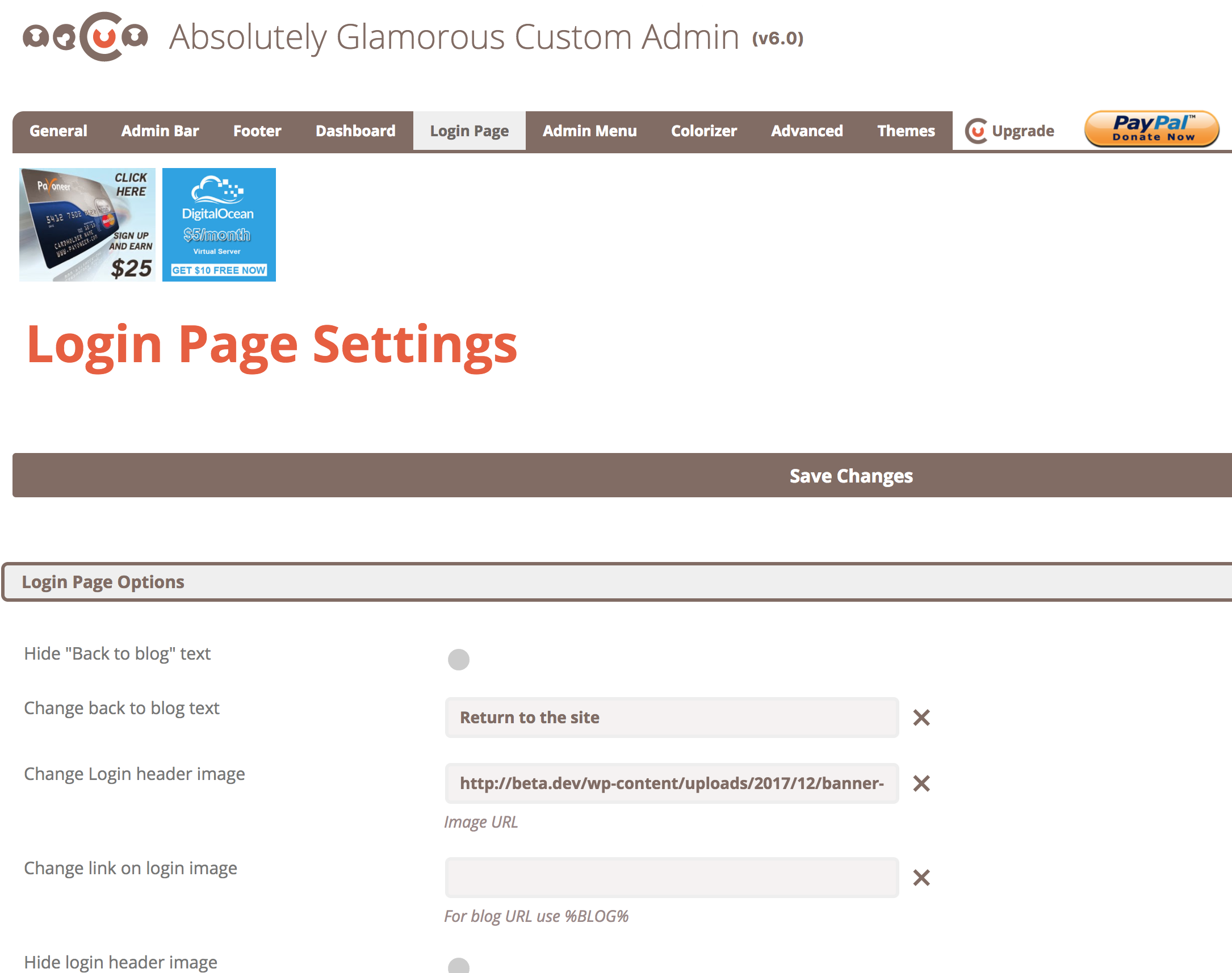 Absolutely Glamorous Custom Admin Download Free Wordpress Plugin 1