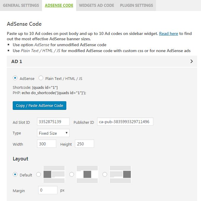 AdSense Plugin WP QUADS Download Free Wordpress Plugin 1