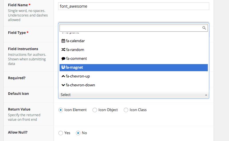 Advanced Custom Fields: Font Awesome Field Download Free Wordpress Plugin 2