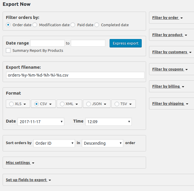 Advanced Order Export For WooCommerce Download Free Wordpress Plugin 3