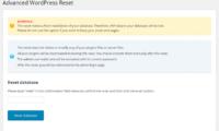 Advanced WordPress Reset Download Free WordPress Plugin