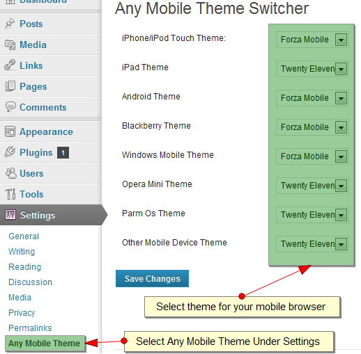 Any Mobile Theme Switcher Download Free Wordpress Plugin 1
