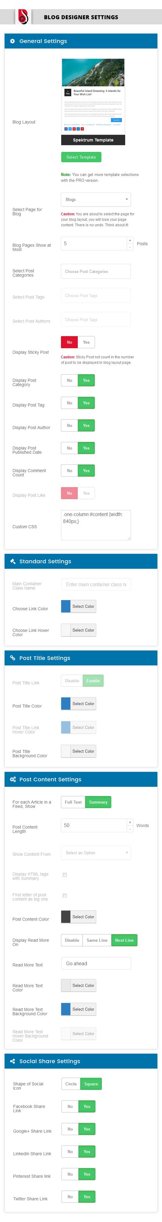 Blog Designer Download Free Wordpress Plugin 3