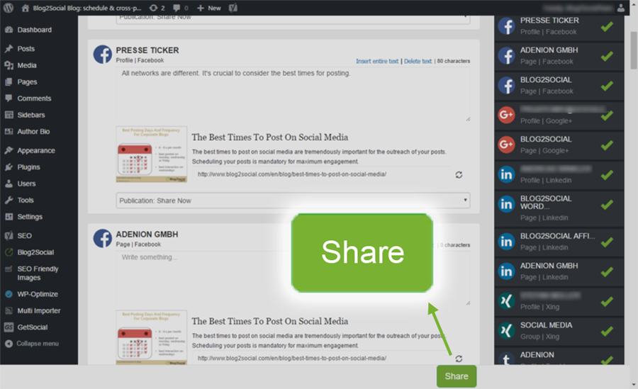 Blog2Social: Social Media Auto Post & Scheduler Download Free Wordpress Plugin 4