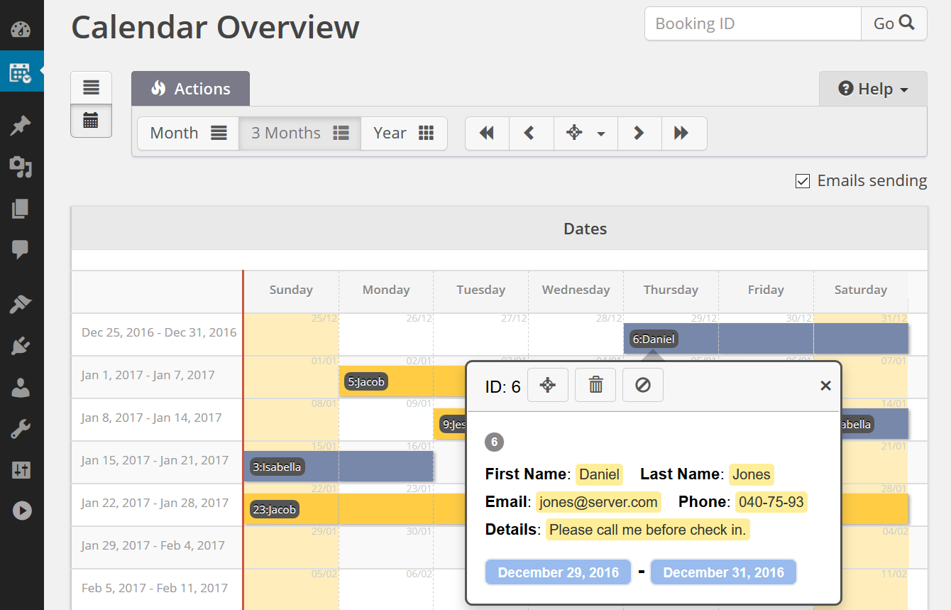 Booking Calendar Download Free WordPress Plugin