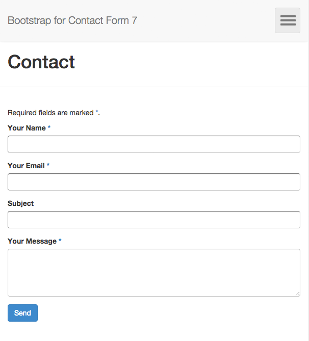 Bootstrap for Contact Form 7 Download Free Wordpress Plugin 3