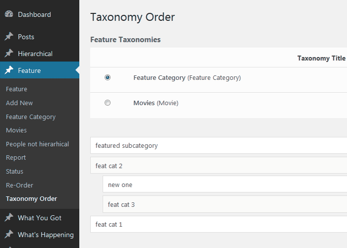 Category Order and Taxonomy Terms Order Download Free Wordpress Plugin 3