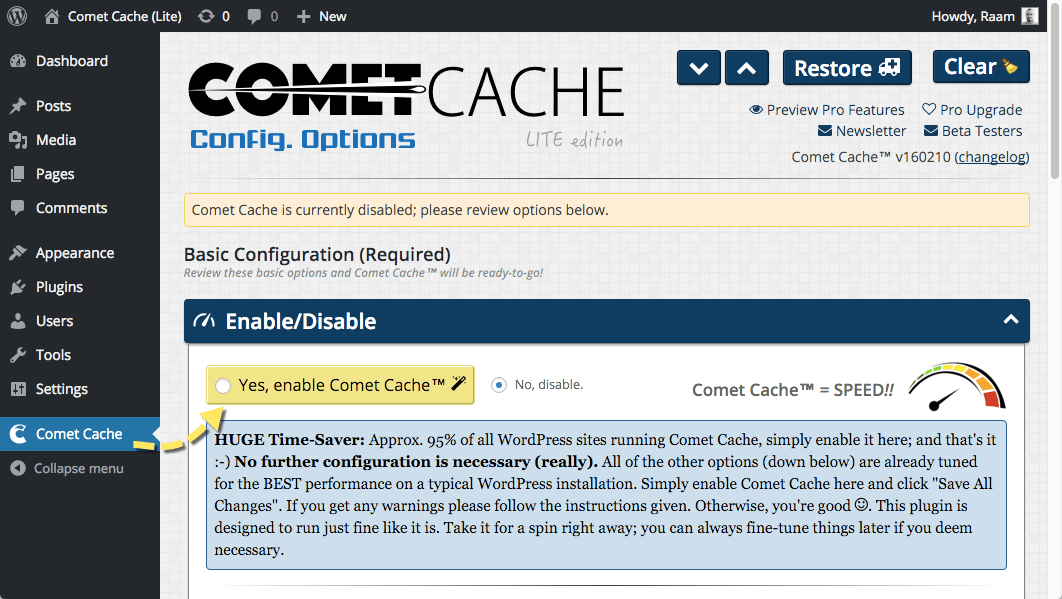 Comet Cache Download Free Wordpress Plugin 4