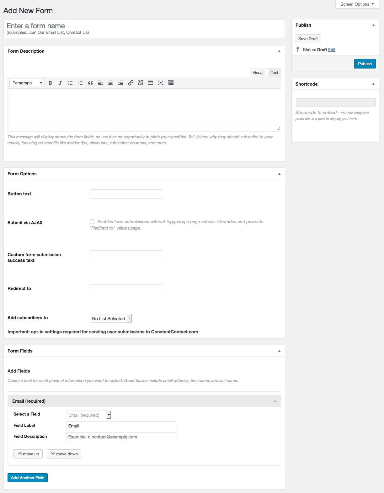 Constant Contact Forms Download Free Wordpress Plugin 1