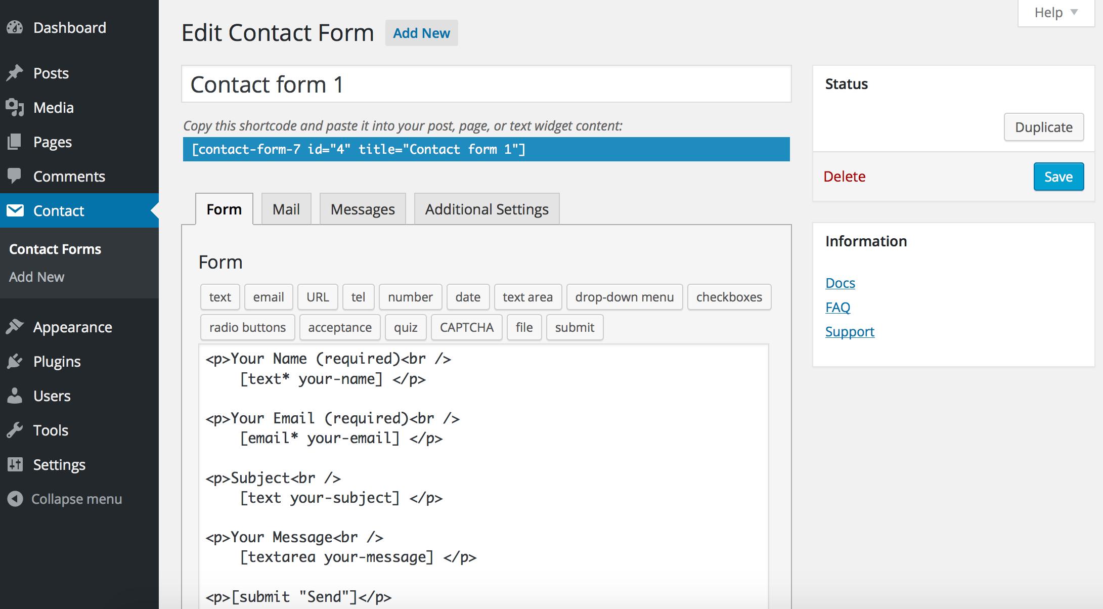 Contact Form 7 Download Free Wordpress Plugin 2