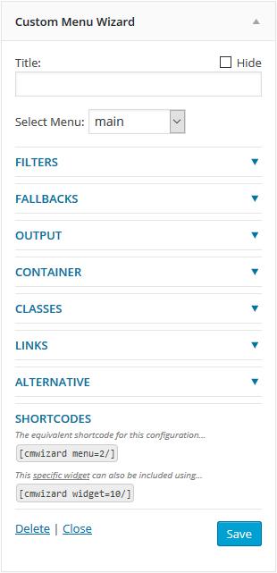Custom Menu Wizard Widget Download Free Wordpress Plugin 5