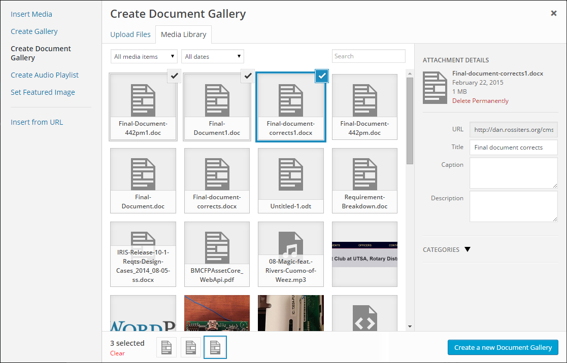 Document Gallery Download Free Wordpress Plugin 2
