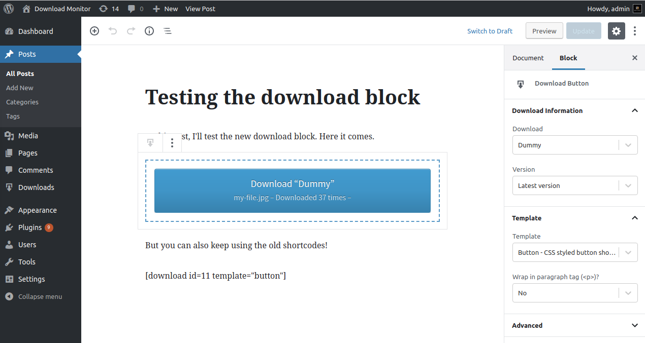 Download Monitor Download Free Wordpress Plugin 1