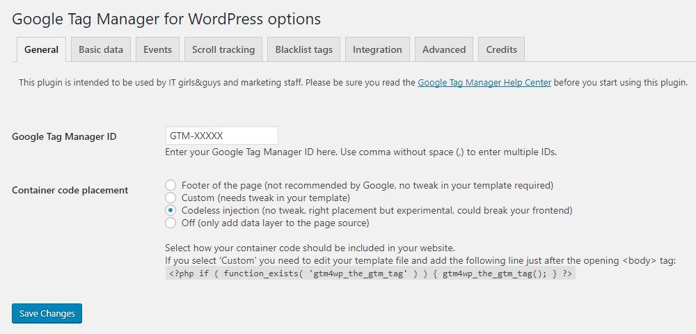 DuracellTomi's Google Tag Manager for WordPress Download Free Wordpress Plugin 4