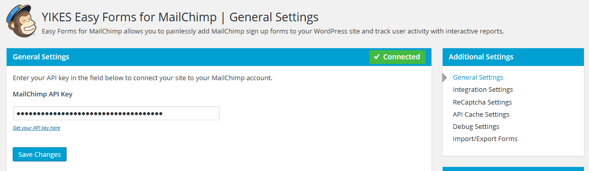 Easy Forms for MailChimp Download Free Wordpress Plugin 1