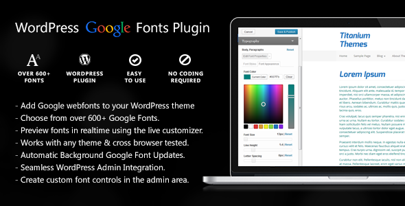 Easy Google Fonts Download Free Wordpress Plugin 3