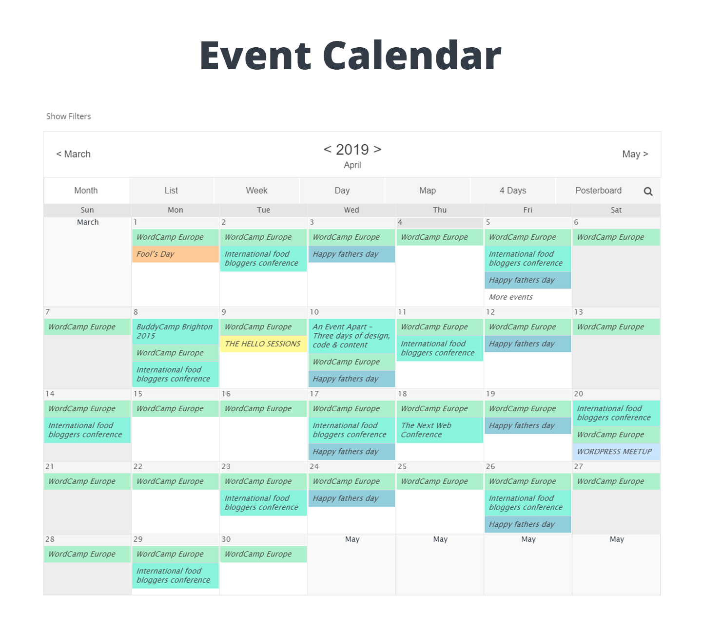 Event Calendar WD – Responsive Event Calendar plugin Download Free Wordpress Plugin 1
