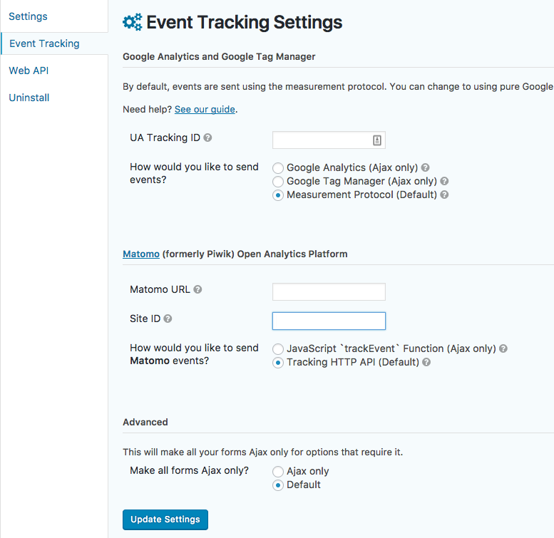 Event Tracking for Gravity Forms Download Free Wordpress Plugin 3