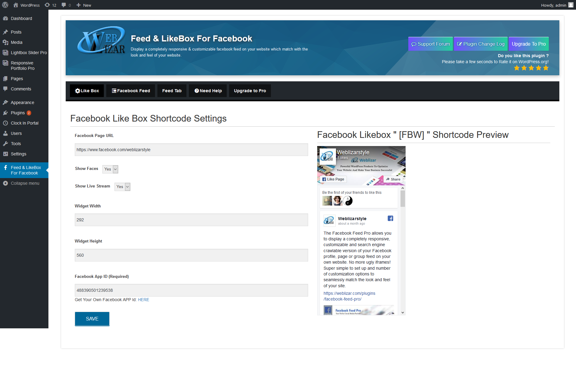 Feed & LikeBox For Facebook Download Free Wordpress Plugin 5
