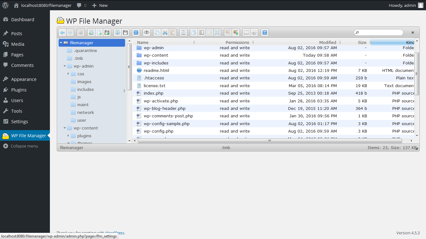 File Manager Download Free Wordpress Plugin 3