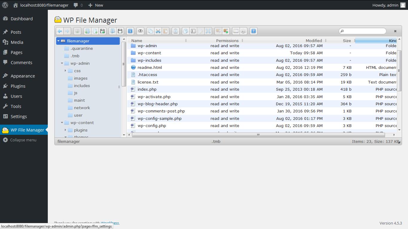 File Manager Download Free Wordpress Plugin 6