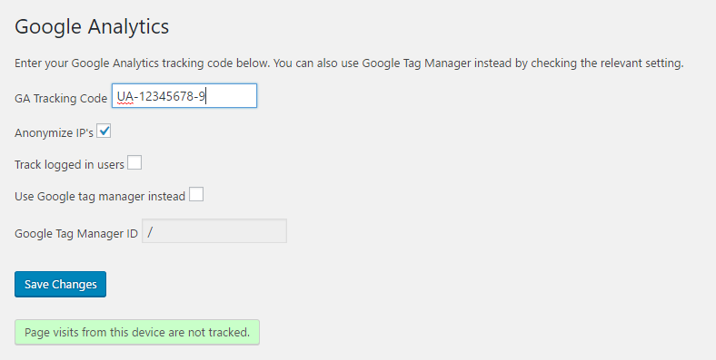 Google Analytics Download Free Wordpress Plugin 3