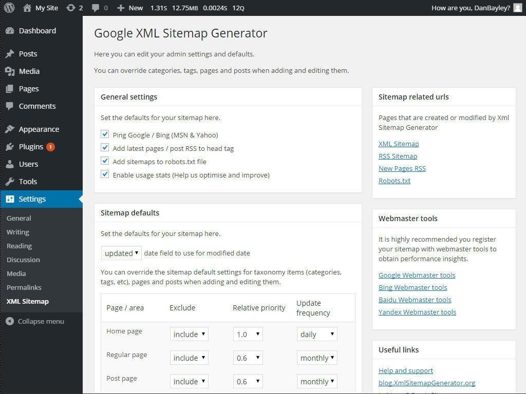 Google XML Sitemap Generator Download Free Wordpress Plugin 4