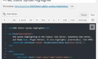 HTML Editor Syntax Highlighter Download Free WordPress Plugin