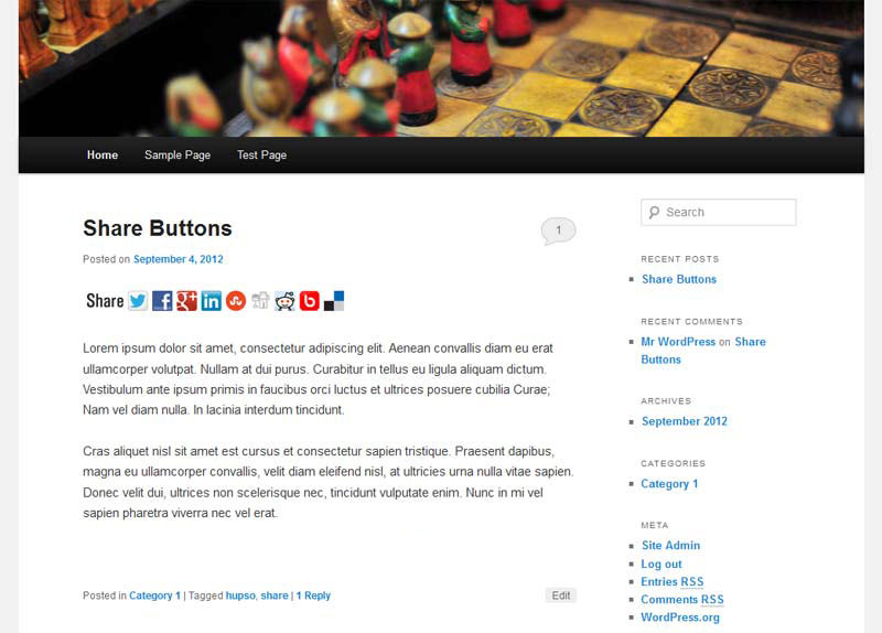 Hupso Share Buttons for Twitter, Facebook & Google+ Download Free Wordpress Plugin 5