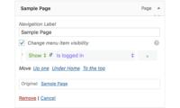 If Menu – Visibility control for Menu Items Download Free WordPress Plugin