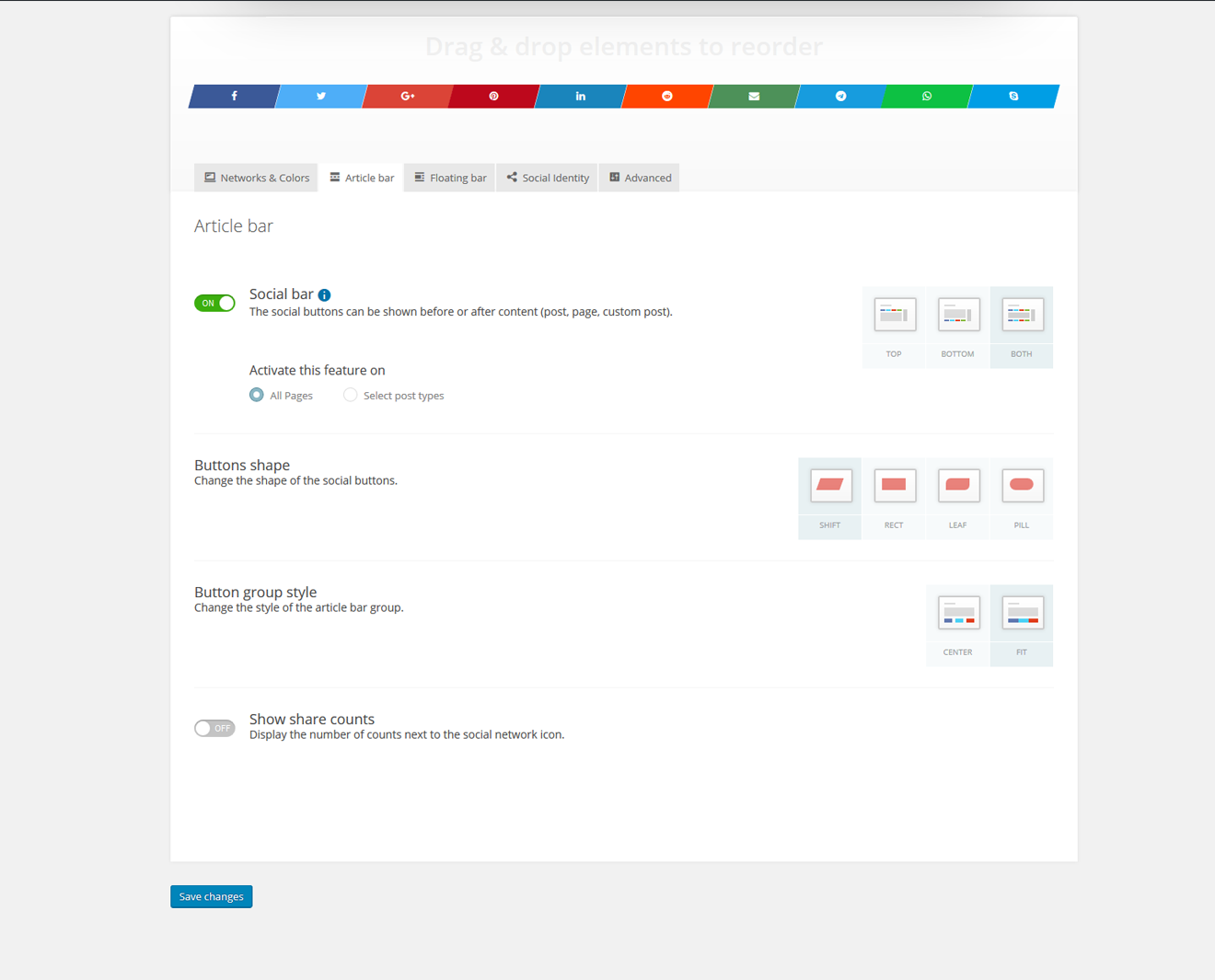 Kiwi Social Share – Social Media Share Buttons & Icons Download Free Wordpress Plugin 1