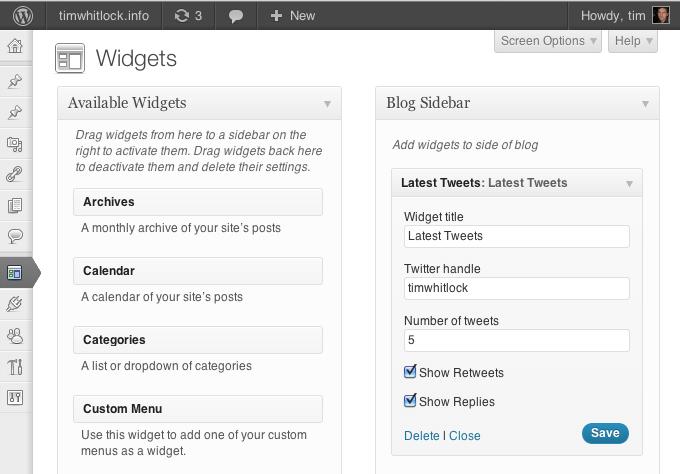 Latest Tweets Widget Download Free WordPress Plugin