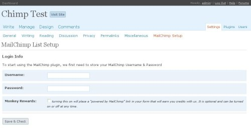 MailChimp List Subscribe Form Download Free Wordpress Plugin 4