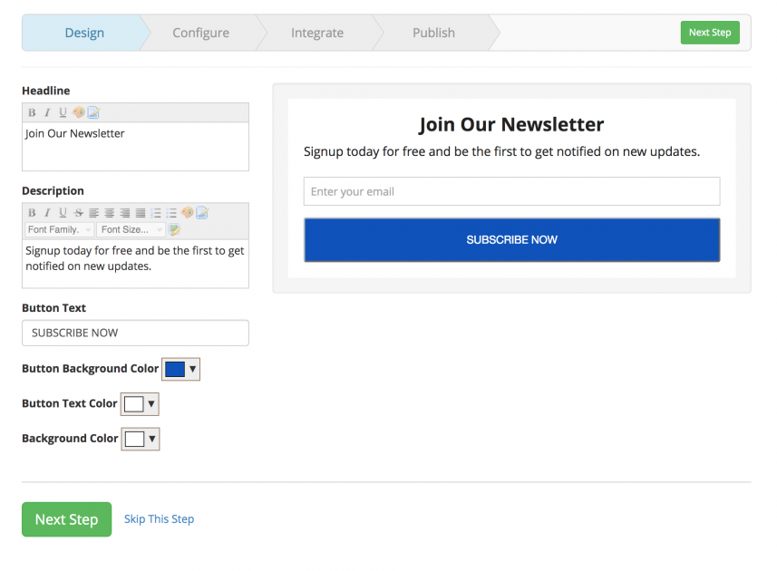 Mailmunchgrow your email list for free agents