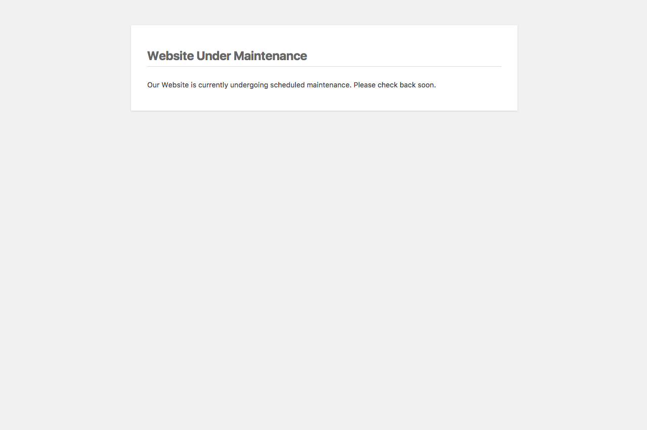 Maintenance Mode Download Free Wordpress Plugin 3