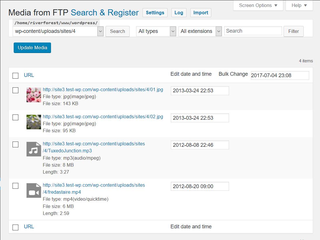 Media from FTP Download Free Wordpress Plugin 2