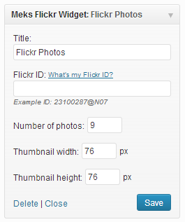 Meks Simple Flickr Widget Download Free Wordpress Plugin 2