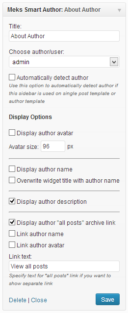 Meks Smart Author Widget Download Free Wordpress Plugin 4