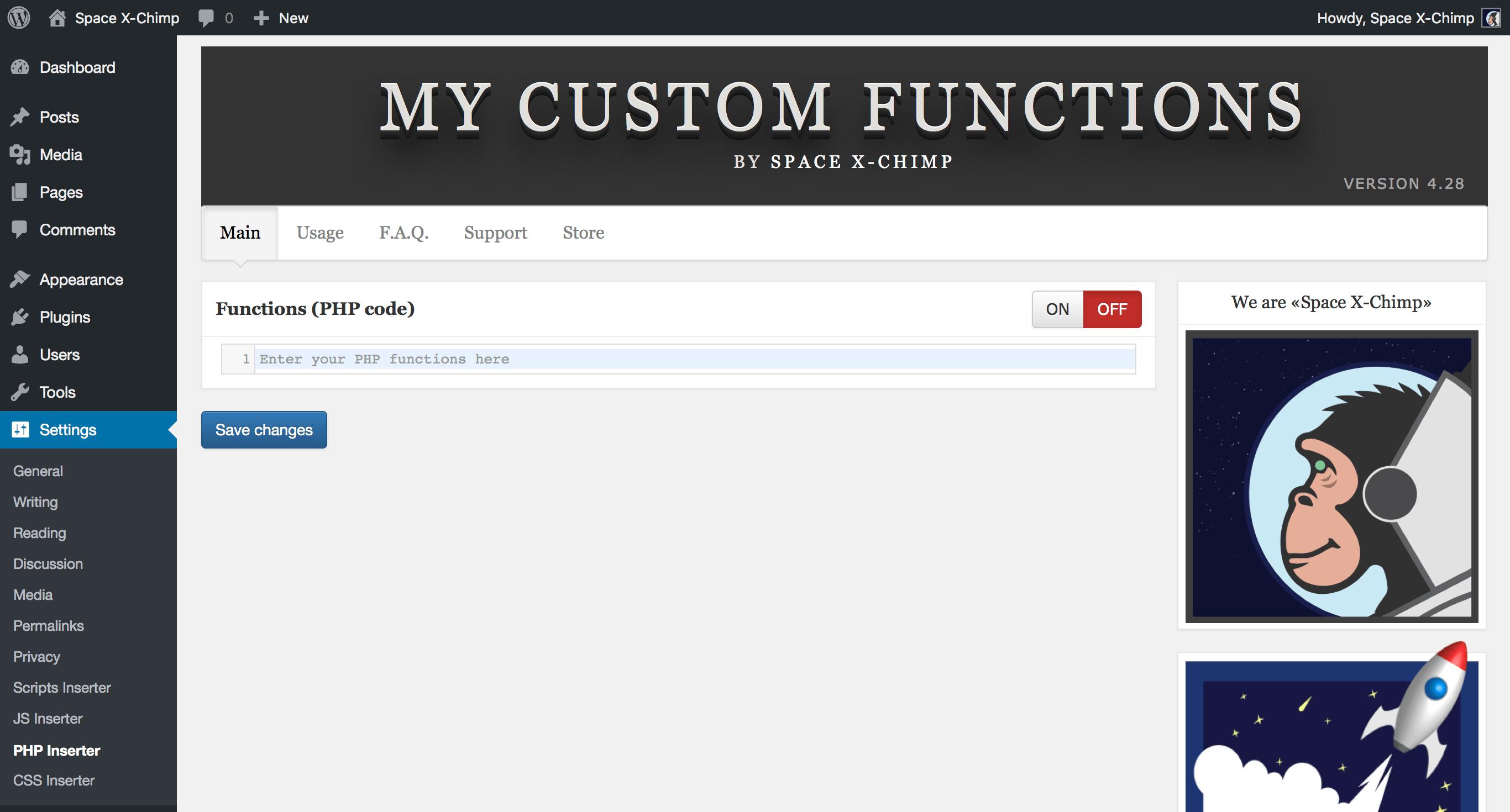 My Custom Functions Download Free Wordpress Plugin 1