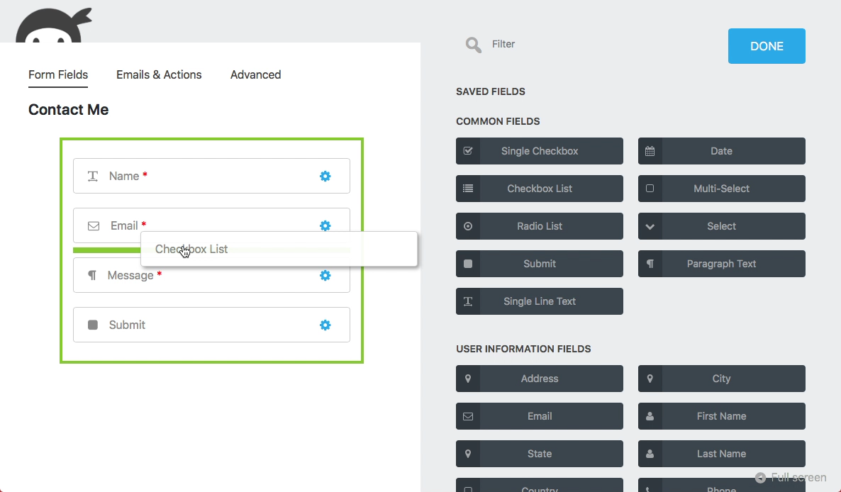 Ninja Forms – The Easy and Powerful Forms Builder Download Free Wordpress Plugin 3