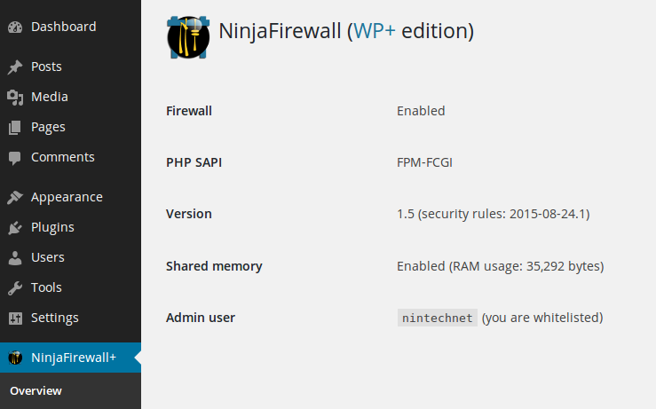 NinjaFirewall (WP Edition) Download Free Wordpress Plugin 5