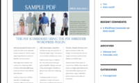 PDF Embedder Download Free WordPress Plugin
