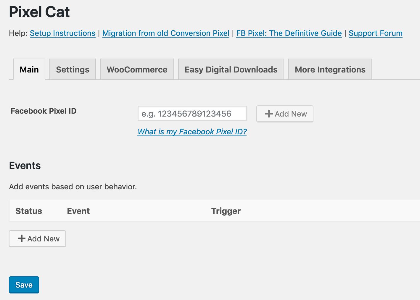 "Pixel Cat – Facebook Pixel (Formerly ""Facebook Conversion Pixel"") Download Free Wordpress Plugin 3"