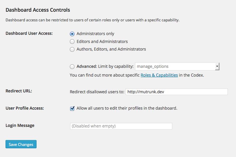 Remove Dashboard Access Download Free WordPress Plugin