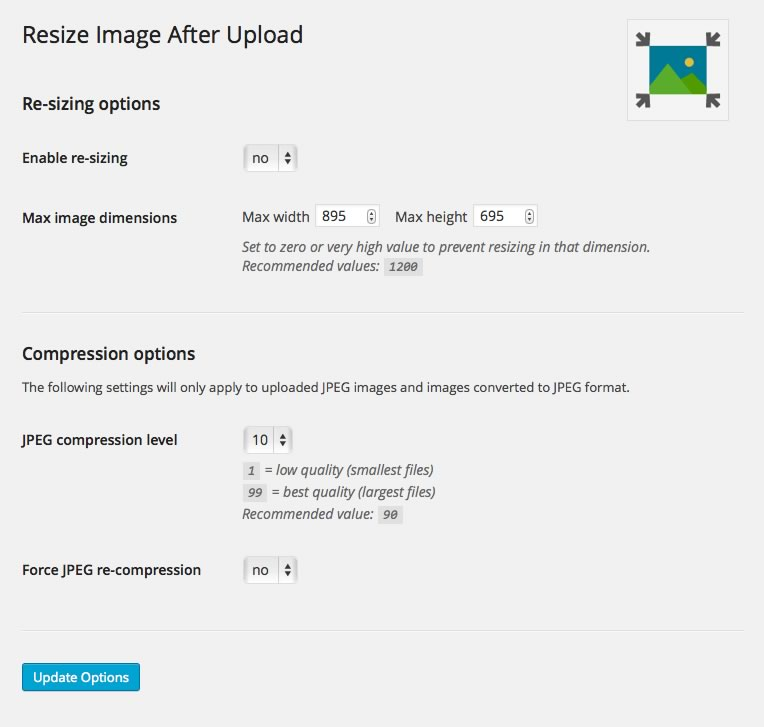 Resize Image After Upload Download Free Wordpress Plugin 4