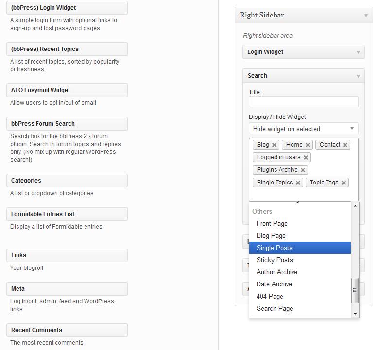 Restrict Widgets Download Free Wordpress Plugin 1