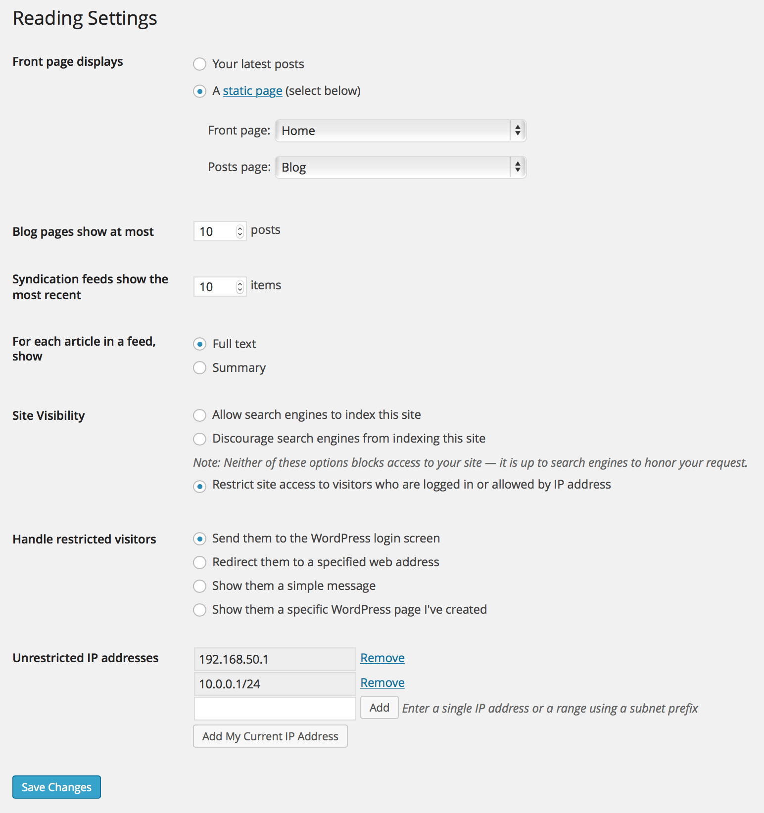 Restricted Site Access Download Free Wordpress Plugin 2